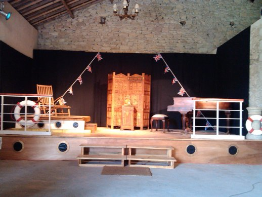 Stage set for Coward at Sea