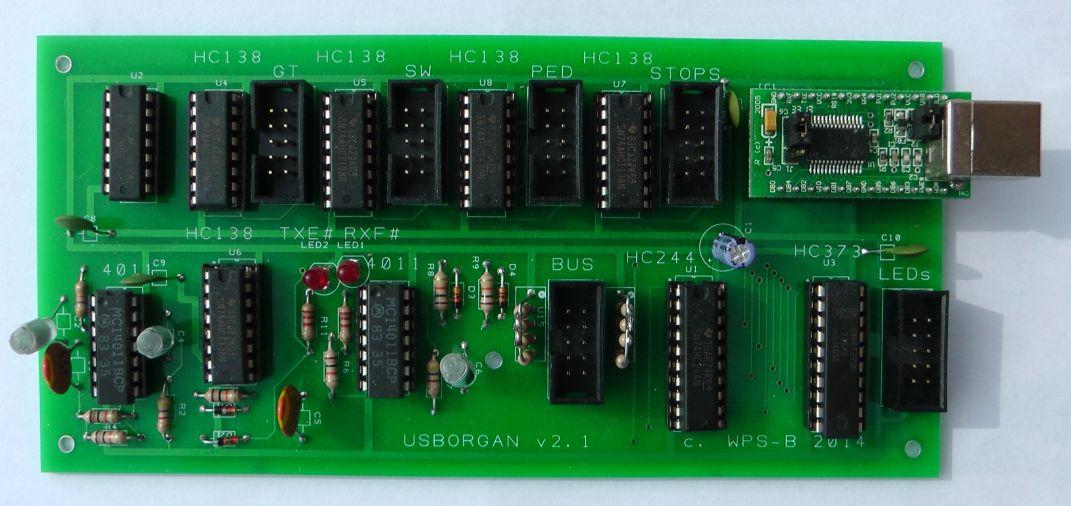 virtual organ console and keyboard scanner