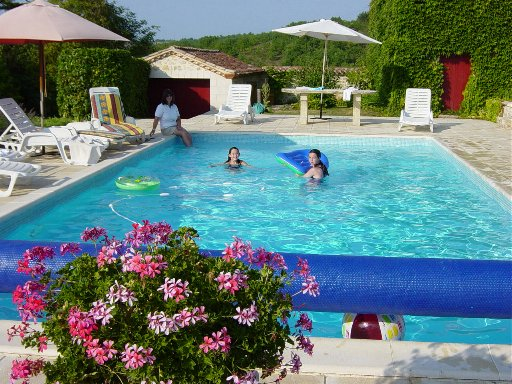 Each Chateau has its own private pool and tennis court
